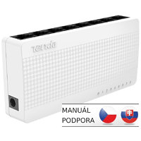 Tenda S108 8 x 10/100 Mini Eco Switch, Desktop