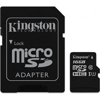 Kingston microSDHC 16GB UHS-1 (class 10) Gen2 45MB/s + adaptér (sdc10g216gb)