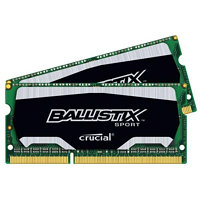 CRUCIAL 8GB=2x4GB Ballistix Sport DDR3 SO-DIMM 1600MHz PC3-12800 CL9 1.35/1.50V XMP