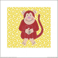 PYRAMID Print Catherine Colebrook - Cheeky Monkey , (30 x 30 cm)