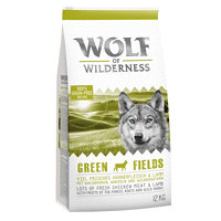 "Wolf of Wilderness ""Green Fields"" - jehněčí - 12 kg"