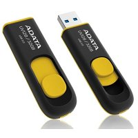 Flash USB A-Data DashDrive UV128 32GB USB 3.0 - černý/žlutý ADTAUV12832GRBY