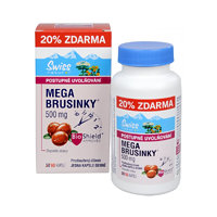 Swiss Natural Sources Mega Brusinky 500 mg 50 + 10 kapslí ZDARMA