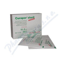 Náplast Curapor Transparent steril.10x8cm/25ks 001717454