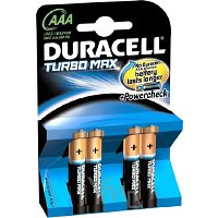 Duracell Turbo Max baterie 4 kusy AAA LR03/MX2400