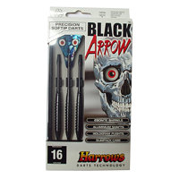 Šipky SOFT BLACK ARROW 16g 5017626007004