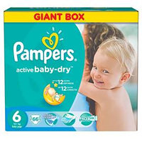 Pampers Active Baby- dry vel.6 Extra Large, 66ks