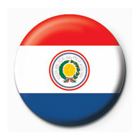 POSTERS Placka Flag - Paraguay