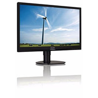 Philips LCD-LED 241S4LCB 24'' wide, 5ms, DC20mil.:1, FHD, DVI, HAS, pivot, č
