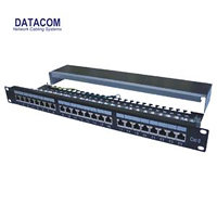 "Patch panel 24p. CAT6 1U,3x8 LSA, STP, 19"", černý"