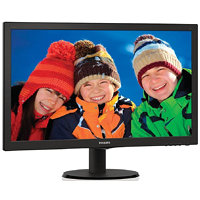 "Philips 243V5LHAB/00 23.6"" LED 1920x1080 10 000 000:1 5ms 250cd HDMI DVI repro černý"