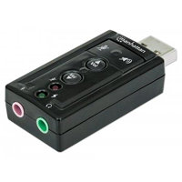 Manhattan Sound card Hi-Speed USB virtual 3D 7.1 with volume control