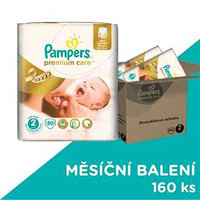 Pampers Premium Care Mini vel. 2, 3-6kg, 2x80ks
