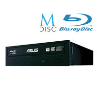 ASUS BLU-RAY Writer BW-16D1HT/BLK/G, black, SATA, retail + Cyberlink Power2Go 8