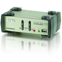 ATEN CS1732B 2-Port USB 2.0 KVMP Switch OSD, 2x USB Cables, 2-port Hub, Audio