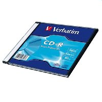 Verbatim CD-R 700MB 48xspd Slim Case 43347