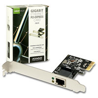 AXAGO - PCEE-GR PCI-Express Gigabit Ethernet Realtek + LP