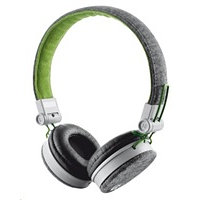 TRUST Sluchátka Fyber Headphone - grey/green