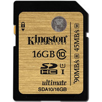 Kingston SDHC 16 GB (UHS-1) Ultimate 90MB/s