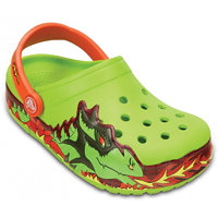 Crocs CrocsLights Fire Dragon Clog K Volt Green 23-24 (C7)