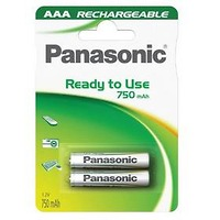 Panasonic AAA, HR03, Evolta, 750mAh, blistr 2ks