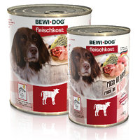 BEWI DOG meat selection rich in veal