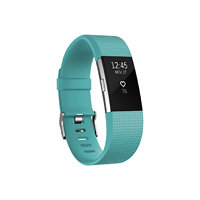 Fitbit Charge 2, Teal/Silver, Large