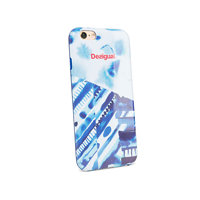 Desigual modrý obal na iPhone 6 Silicona Splash