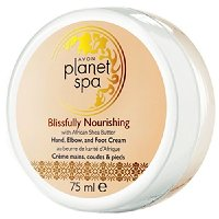 Avon Vyživující krém na ruce, nohy a lokty s bambuckým máslem Planet Spa (Hand, Elbow and Foot Cream Blissfully Nourishing with African Shea Butter) 75 ml
