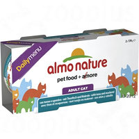 Almo Nature Cat Daily Menu konzerva 6 x 170 g - Tuňák & kuře