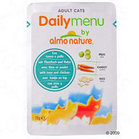 Almo Nature Cat Daily Menu kapsička 6 x 70 g - tuňák & losos