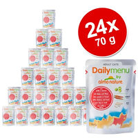 Almo Nature Cat Daily Menu kapsička 24 x 70 g - tuňák & losos