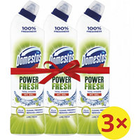 Domestos Total Hygiene Lime Fresh WC gel 3x 700 ml