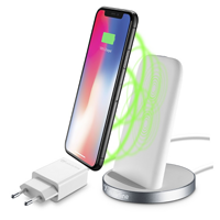 CellularLine WIRELESS FAST CHARGER STAND, Qi standart, bílý WIRELESTANDIPHW