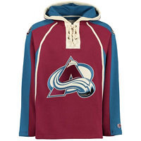 Old Time Hockey Pánská mikina s kapucí Lacer Fleece NHL Colorado Avalanche,