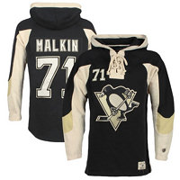 Old Time Hockey Pánská mikina s kapucí Player Lacer Pittsburgh Penguins Jevgenij Malkin 71,