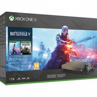 Microsoft Xbox One X 1 TB + Battlefield V Gold Rush Special Edition XBXFMP00032