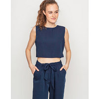 Native Youth BOAT HOUSE CROP TOP Navy