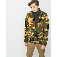 Herschel Supply Fleece Zip Up Woodland Camo/Black