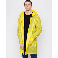 Rains Hooded Coat Foggy Yellow