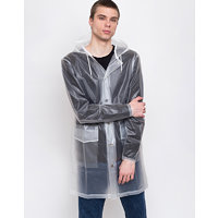 Rains Hooded Coat Foggy White