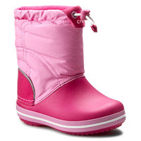 Sněhule CROCS - Crocband Lodgepoint Boot K 203509 Candy Pink/Party Pink