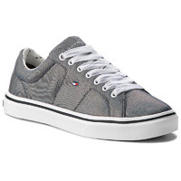 Sneakersy TOMMY HILFIGER - Metallic Light Weight Lace Up FW0FW03028 Midnight 403 41