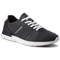 Sneakersy TOMMY HILFIGER - Unlined Th Light Leather Runner FM0FM01630 Midnight 403 4