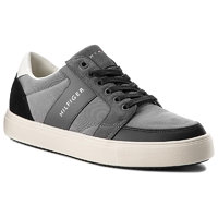 Sneakersy TOMMY HILFIGER - Lightweight Color Block Low Cut FM0FM01635 Grey/Black 903 4