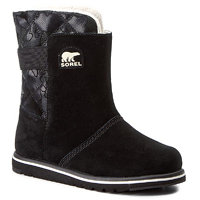 Boty SOREL - Youth Rylee Camo NY1900 Black/Light Bisque 010 3