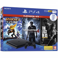 Sony PlayStation 4 1 TB + Tle Last of Us + Uncharted 4 A Thief's End + Ratchet Clank černá SONPS719931508