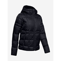 Bunda Under Armour Down Hooded Jkt-Blk Černá