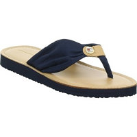 Tommy Hilfiger Leather Footbed Beach Modrá EU