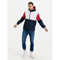 Colorblock Windbreaker Bunda Tommy Jeans Modrá